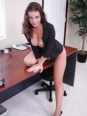Delicious secretary with perfect holes and sweet big tits Penny Flame