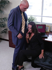Workplace turns into hot fuckplace for a horny secretary with big tits Penny Flame