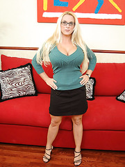Hot milf with giant melons and sexy glasses Holly Halston makes our dicks harder