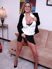 Excellent milf Demi Delia demonstrates flawless parts of her stunning body