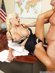 Milf with excellent model-quality body Puma Swede fucked by her student