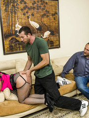 Big assed and huge titted brunette Sophie Dee in not against to take it in the ass