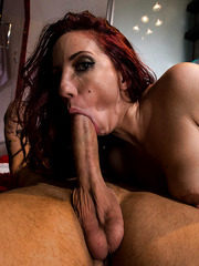 Stunning redhead milf with great tits Kelly Divine fucked in the asshole