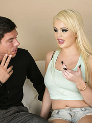 Blue eyed coquette with big tits Alexis Ford enjoys hardcore group sex