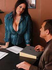 Great milf with giant melons Daphne Rosen fucked anally by her boss
