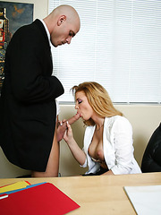 Excellent milf Gia Marley seduces and fucks her married boss in the office