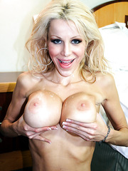 Excellent blonde milf with great breast Danielle Derek got great fuck