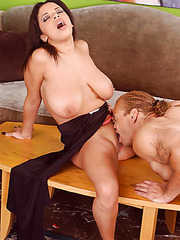 Voluptuous bombshell with beautiful big breast and sexy face Alexis Silver fucked amazing