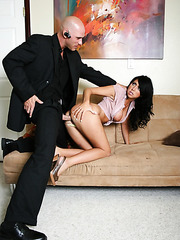 Hot brunette secretary with big tits Cody Lane got a sweet facial in the office