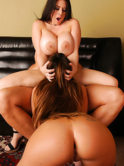 Amazing threesome action with two buxom milfs Daphne Rosen and Richelle Ryan