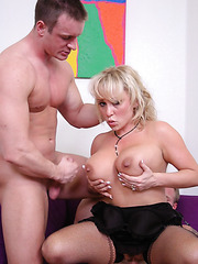 Real milf with big boobs named Milan satisfies two dicks at the same time
