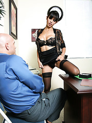 Mesmerizing office lady with great round big tits Shy Love fucked by her boss