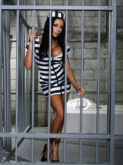 Sweet prison with gorgeous and glamorous brunette babe Audrey Bitoni and her fantastic forms