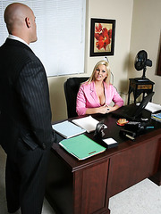 Office milf with gorgeous big boobs Abbey Brooks fucked on the table