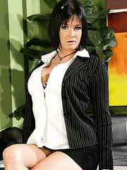 Amazing and hot scene with an elegant brunette milf Tory Lane in the office