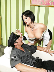 Awesome and crazy fuck with a naughty brunette milf Tory Lane