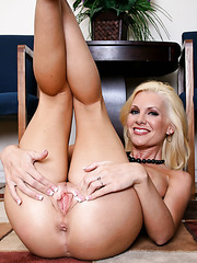 Hot lesbian action with gentle blondes named Brandi Edwards and Tanya James