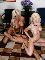 Crazy threesome with passionate lesbians named Brandi Edwards and Tanya James