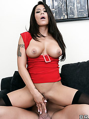 Passionate chick Jenaveve Jolie spreads her legs for a crazy and hot fuck