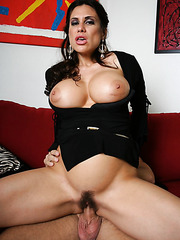 Nasty brunette milf Sheila Marie sucks her neighbor's cock and shows sweet tits