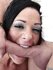 Hardcore fuck with a nasty brunette slut whose name is Angela Aspen