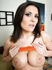 Big titted brunette milf Austin Kincaid gets fucked in the doggystyle and facialized
