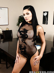Gorgeous milf Aletta Ocean makes us wild with her gorgeous eyes and big tits