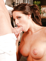 Luxury bombshell Kortney Kane gets her pussy licked before taking big dick in her mouth and pussy
