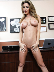 First-class mature lady Kayla Paige with dangerously seductive face and great big tits