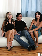 Dream fuck for a lucky boyfriend with two glamorous milfs Sarah Jessie and Sophia Lomeli