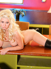 Bewitching Jazy Berlin presents us amazing striptease action with her beautiful body