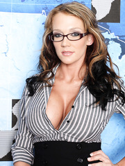 Extremely hot business lady Nikki Sexx has an exciting strip hobby