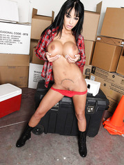 Great big tits, sexy tattoos, sweet plump lips and hot eyes by Angelina Valentine