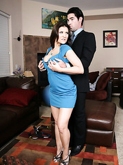 Hot brunette milf with huge breast Austin Kincaid fucked voluptuous in her favorite poses