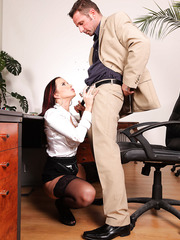 Marvellous and busty milf Cindy Dollar enjoys hot anal fucking actions with her boss