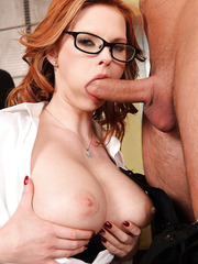 Extremely hot secretary Tarra White gets fucked in every hole of her busty body