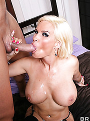 Gorgeous blonde with hot eyes and huge tits Diamond Foxxx in the hardcore fucking scene