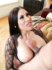 Big tits, creamy nipples and hairy pussy by Sheila Marie in the fucking action
