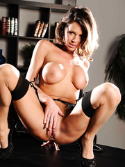 Bewitching model-milf Veronica Avluv in strips the most voluptuous poses
