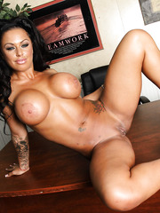 Fantastic charming beauty by gorgeous Latina milf with hot tattoos and big tits - Kerry Louise