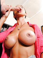 Buxom babe Jewels Jade is tired of hardworking and decided to get a big cock for as a relaxation