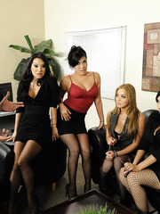Group fuck with sexy ladies named Asa Akira, Katsuni, London Keyes, Mia Lelani