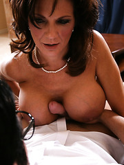 Busty brunette mommy Deauxma gets her neighbor's cock in the pussy