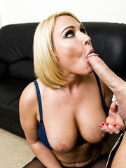Office milf Mellanie Monroe gets sweet facial by her big dicked colleague