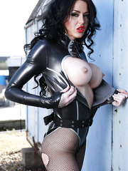 Stacey Lacey is an astonishing milf that loves to pose demonstrating her great big tits