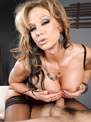 Hot milf Nikki Sexx was dreaming about something really sweet and came to seduce her co-worker