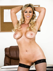 Wonderful milf Abbey Brooks shows off her big tits and delicious ass