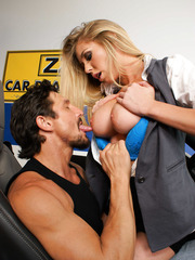 Car dealer Brynn Tyler presents her best client a great, unforgettable fucking action