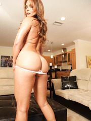 Model-quality milf with hot ass and big tits Monique Fuentes shows her sexy tanlines