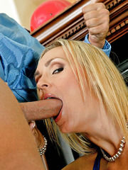 Beautiful, slutty and busty blonde milf Tanya Tate fucks with a neighbour
